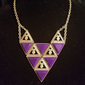 Resin stone Geometric necklace set